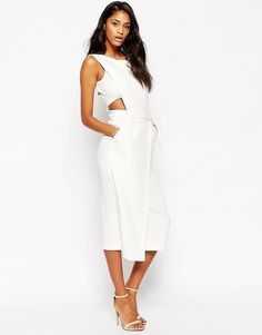 916154d87c276 ASOS Tab Side Clean Column Dress at asos.com