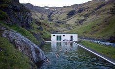 Seljavallalaug geothermal pool, Seljavellir, Iceland