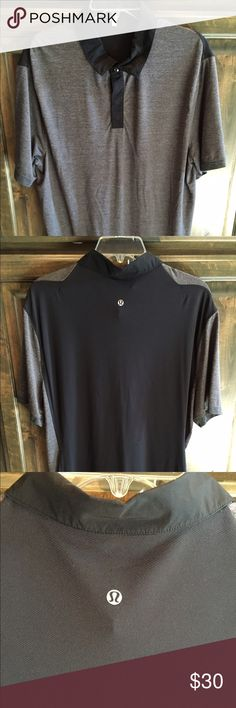 Men's Lululemon Precision Polo size Large $98 Like new! Men's Lululemon Precision Polo in grey and black. Size Large- bought brand new for $98!! lululemon athletica Shirts Polos