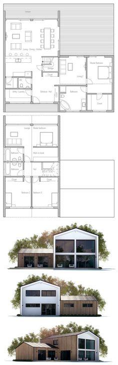 plan maison bois Plans Pinterest - plan maison en forme de u