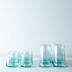 Need a drink? Try these handblown moroccan glass tumblers.