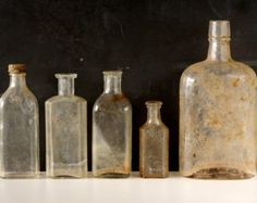 Antique / Vintage Medicine Bottles, Apothocary Bottles, Doctors Elixir Bottles - Instant Collection, Mad Science Party