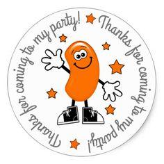 Orange Jelly Bean Birthday Party Thank You Sticker - kids stickers gift idea diy decor birthday sticker children christmas gifts presents Orange Birthday Parties, Kids Birthday Gifts, Birthday Diy, Birthday Ideas, Christmas Gifts For Kids, Gifts For Boys, Boy Gifts, Kids Stickers, Thank You Stickers