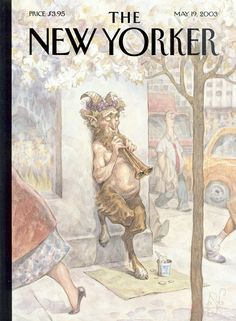 "The New Yorker - Monday, May 19, 2003 - Issue # 4029 - Vol. 79 - N° 12 - Cover ""Panhandler"" by Peter de Sève"