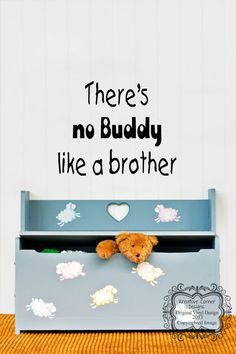 There's No Buddy Like A Brother Vinyl Decal by KreativeCorner, $12.50