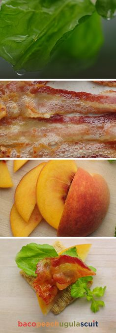 Better than a BLT. Bacopeachugulascuit combines crispy bacon, a slice of peach, and arugula for a cracker creation so flavorful you'll wonder how your Triscuit ever lived without it.