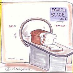 CT Slice Cartoon