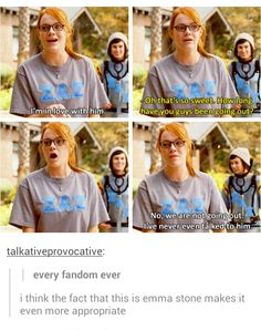 That moment I swear we were all Emma Stone.