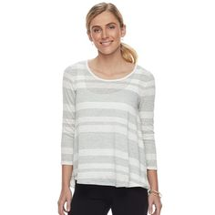Women's SONOMA Goods for Life™ Lace-Up Striped Top, Size: Medium, Light Red
