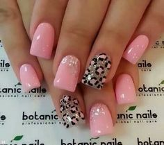 Hottttt!!! Love these! I will be getting this done next week!! #Nails #pink #cute