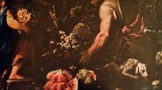 GIUSEPPE RECCO ( still life ) & LUCA GIORDANO ( figures and landscape ) . ALLEGORIA DELL ' AUTUNNO CON BACCO FANCIULLO. olio su tela. 210 × 252 cm. Collezione Privata. Bibliografia : 2002 -2002, Spinosa, n. 89, pag. 286 - 287.