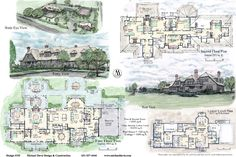 Mansion Floor Plans: 243 Hedges Lane, Sagaponack, New York House Plans Mansion, Luxury House Plans, Dream House Plans, House Floor Plans, The Plan, How To Plan, Hampton Mansion, House Under Construction, House Plans And More