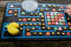80s Party - a Pac-Man cake and ghost sugar cookies are sure to please.