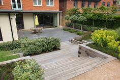 Steps and grey paving