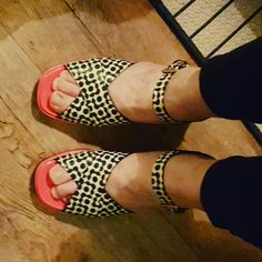 My lovely new Orla Kiely sandals