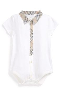 A little expensive but hey it's not I don't spend that on shoes :-) Burberry Bodysuit (Baby) available at #Nordstrom