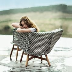 Sebastian Herkneru0027s Outdoor Mbrace Chair Collection For Dedon At Imm Cologne