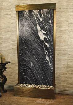 Indoor Floor Water Features - Tranquil River Marble Floor Water Feature
