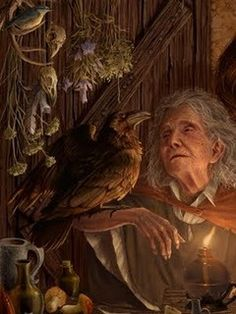 The Crone, a beautiful and spiritual woman of wisdom free to be herself and explore her own spirituality walking the line between twilight and darkness, she understands the importance of death and renewal.