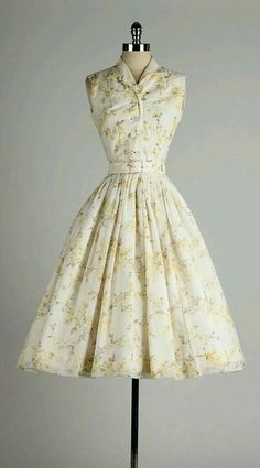 Sleeveless day dress, c.1955-60