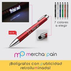 Descubre los nuevos #bolígrafos con #personalización retroiluminada. ¡Toda una novedad!  http://www.merchaspain.com  #merchandising #Mallorca #bolispersonalizados #regalospublicitarios #promotionalpens #publicidadnocturna #batseñal #pens #writing #light #lamp #leds