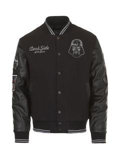 Ecko Unltd. Jacket Varsity Dark Sided - *Ecko Unltd Canada - $120.00 #starwars #darthvader #darth #vader #varsity #leatherman #jacket #ecko #darkside