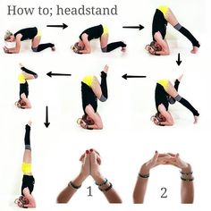 How to: Headstand. . There is not just one way to do a pose! . Just because one teacher tells you to do it one way doesn't mean you shouldn't explore other ways or be open to alternative ways to practice something. . I will admit headstand has always been quite an accessible pose for me but I've learned through teaching it that not everyone learns the same way. . When I was learning to pike press in supported heastand, I was frustrated that it just wasn't happening even though I had a solid…
