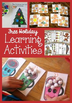Free Christmas Printables for Preschoolers is part of Kids Crafts Christmas Learning The holidays are such an exciting time for our little ones! If you are a mom or a teacher like me, though, it can - Holiday Themes, Holiday Activities, Christmas Themes, Kids Christmas, Holiday Crafts, Kindergarten Christmas, Christmas Nativity, Vintage Christmas, Christmas Decorations