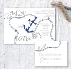 Printable Anchor and Rope Invitation by ChirpPaperie on Etsy