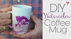 DIY Watercolor Mug