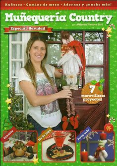 MUÑEQUERIA COUNTRY SANDES - Especial de Navidad - Alandaluz Lopez M. - Álbumes web de Picasa Book Crafts, Crafts To Do, Hobbies And Crafts, Craft Books, Christmas Books, Christmas Ornaments, Sewing Magazines, Banner, Cross Stitch Books