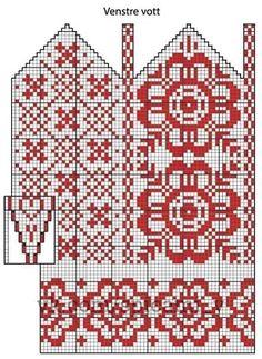 Trendy knitting charts hats mittens pattern ideas - Knitting New Knitted Mittens Pattern, Fair Isle Knitting Patterns, Hand Knitted Sweaters, Knit Mittens, Knitting Charts, Afghan Crochet Patterns, Knitting Socks, Knitting Stitches, Fingerless Mittens