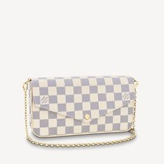 Félicie Pochette Damier Azur Canvas in White - Small Leather Goods N63106 | LOUIS VUITTON ® Boutique Louis Vuitton, Louis Vuitton Usa, Louis Vuitton Designer, Louis Vuitton Store, Vuitton Bag, Designer Handbags, Lv Pochette, Saint Laurent Handbags, Louis Vuitton Official Website