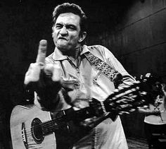 "JOHNNY CASH ""FLIPS The BIRD""  #JohnnyCash  http://www.amazon.com/Got-Any-Kahlua-Collected-Recipes/dp/1478252650"