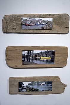 driftwood frames; I like this idea for the USS Carolina print B has. Maybe lay it out on the driftwood and have a piece of glass cut and lay on top secured at the corners!