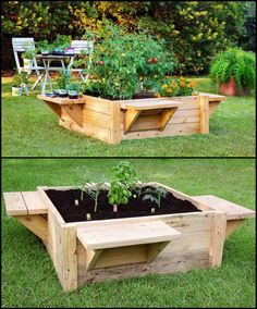 Gardening is relaxing, but can also be a pain in the back. Most gardening activities require kneeling or bending to tend to your plants.   http://theownerbuildernetwork.co/qckk  The simplest solution is to have a raised garden bed, and you can improve it by adding benches! This makes gardening easier and more comfortable.