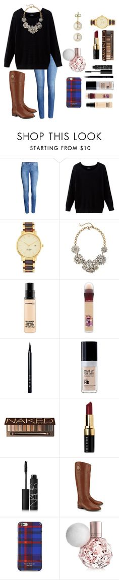 """Should I make a taglist?"" by sweatshirt-irwin ❤ liked on Polyvore featuring H&M, Kate Spade, J.Crew, MAC Cosmetics, Maybelline, Bobbi Brown Cosmetics, Urban Decay, NARS Cosmetics, Tory Burch and Isaac Mizrahi"