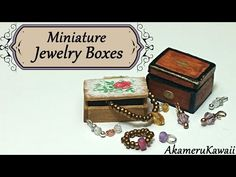 Miniature Jewelry Boxes - Dollhouse Tutorial - YouTube