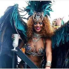 Pin for Later: Rihanna Completely Steals the Show at Barbados's Carnival Festival