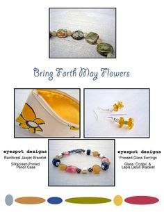 May Flowers themed selection of work by Eyespot Designs #yellow #may