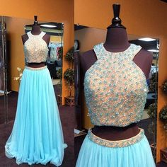 Fashion Two Piece Prom Dress