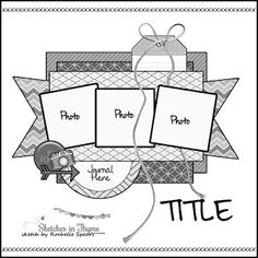 Scrapbook page layout Scrapbook Layout Sketches, Scrapbook Templates, Scrapbook Designs, Card Sketches, Scrapbooking Layouts, Digital Scrapbooking, Disney Scrapbook, Scrapbook Paper Crafts, Scrapbook Albums
