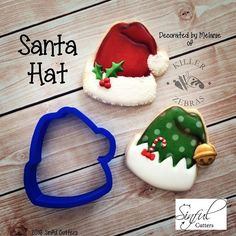 Such a festive cutter....the Santa Hat. Available in 2, 3, 3.5, 4 and 5 in cutters. Decorated cookies courtesy of Melanie of @killerzebras!