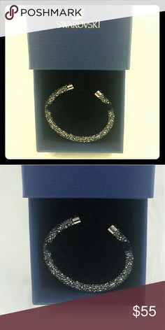 Swarovski Crystal Bangle Swarovski Crystal Bangle...new! http://www.swarovski.com/Mob_US/en/5250071/product/Crystaldust_Cuff,_Gray.html?origin=RecommendationBox Swarovski Jewelry Bracelets