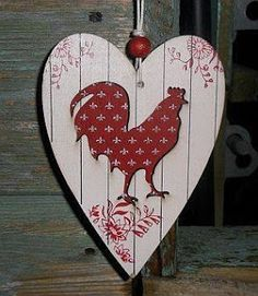 & Hearts and Hens - Chicken Shed Chicken Shed, Chicken Art, Rooster Art, Rooster Decor, Arte Pallet, Decoupage, Wood Crafts, Diy Crafts, Chickens And Roosters