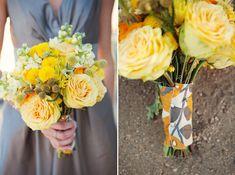 Love the bridesmaid dress and fabric around flowers