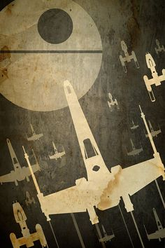 11x17 Star Wars Poster XWing Fighter Attack by JWCdesigns on Etsy, $19.00