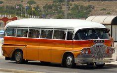 Malta old bus Malta Bus, Malta Island, New Bus, Bus Ride, Bus Conversion, Busses, Rv Campers, Commercial Vehicle, Archipelago
