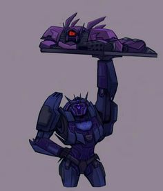 """yes-i-write-fanfiction: """"parallelpie: """" ᕙ( *  ̄へ ̄ * )ᕗ """" The reason TFP Soundwave is so quiet is because he's mourning the loss of his thick thighs """" Transformers Soundwave, Transformers Memes, Transformer 1, Anime Fnaf, Sound Waves, Fan Art, Cartoon, Cute, Robots"""