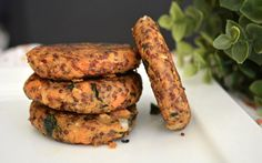 <p>These sweet potato and quinoa patties are full of flavor, with added walnuts for a bit of texture! </p>